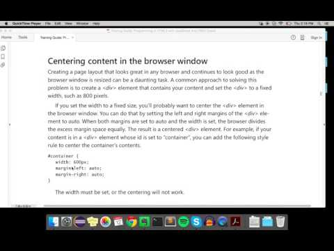 Centering Content in the Browser Window (CSS3)