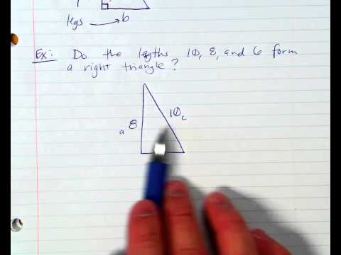 Checking Lengths to Form a Rigth Triangle
