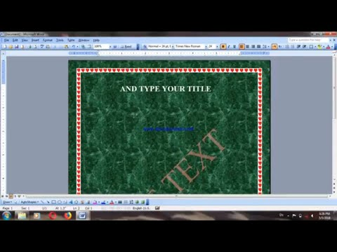 how to add borders and shading in ms word 2003 and how change background color and water mark easily