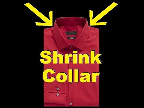 How To Shrink Collar on Dress Shirts & Polos! -Jonny DIY