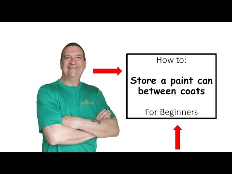 How to store you paint supplies between coats