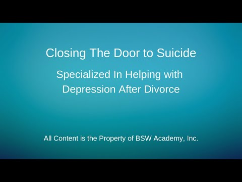 Brainsweep-Closing the Door to Suicide-Helping With Depression After Divorce-BSW