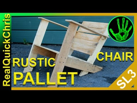 how to make a Rustic Pallet Chair