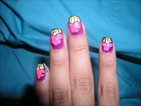video response: julieg713 hot pink cupcake nails