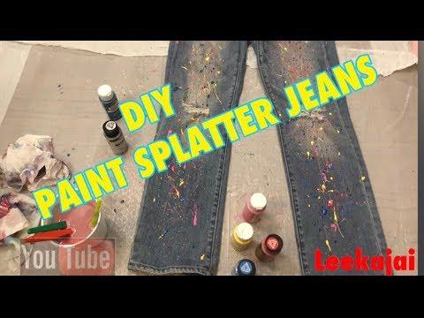DIY PAINT SPLATTER JEANS