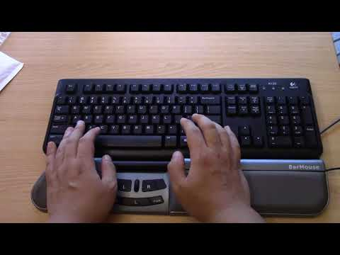 If you have RSI (sore wrist), use this Ergonomic Mouse Alternative - Bar Mouse