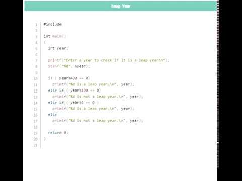 C programming example code Android app demo