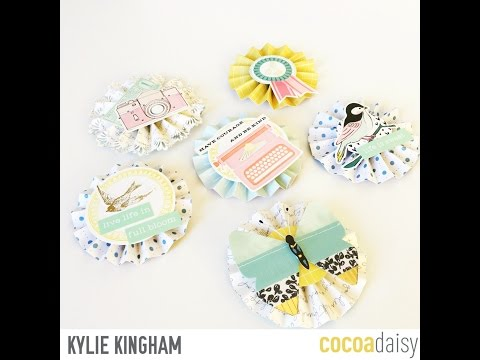 Paper Rosette tutorial with Cocoa Daisy