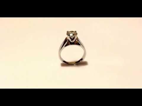 Diamond Engagement Ring, 1.75 Carat Diamond Solitaire