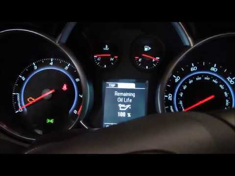 Chevy Cruze Service Light Reset With Multifunction Display Check