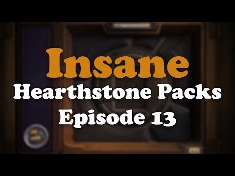 Insane Hearthstone Packs: Episode 13 [4 Golden Cards with 2 Legendary]