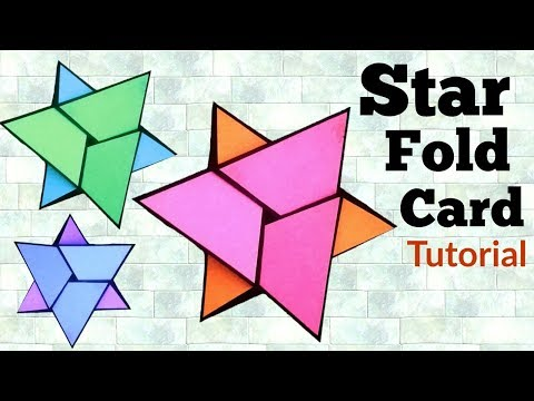 Star Fold Card Tutorial | How to make Napkin fold card | Easy handmade gifts |