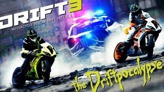 Motorcycle vs. Car Drift Battle 3 - [Full HD]