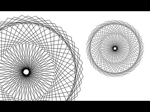Photoshop CC Tutorial | Spirography design Effect | Oraganic Patterns
