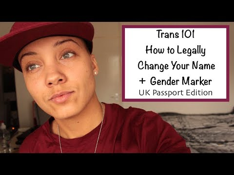 How To Legally Change Your Name and Gender Maker