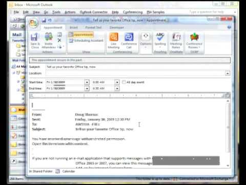 Zip Tip: Email to Calendar