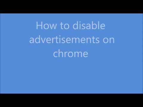 How to disable website ads on chrome browser