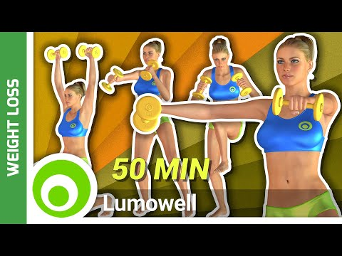 50 Minute Cardio Workout With Weights to Tone Your Body and Burn Fat