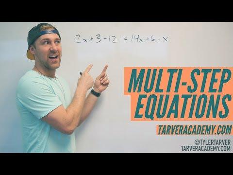 Solving Multi-Step Equations LIKE A BOSS!! // TARVER ACADEMY MATH