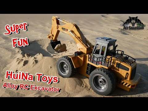HuiNa Toys Super Easy to Operate Alloy RC Excavator
