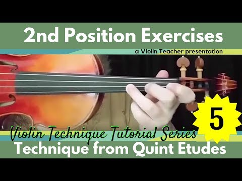 Violin Technique Tutorial | 2nd Position Exercise 5 | Quint Etudes