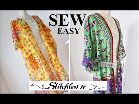 DIY How to sew an easy kimono Robe