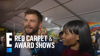 """Chris Hemsworth on Miley & Liam Attending """"Thor"""" Premiere   E! Live from the Red Carpet"""