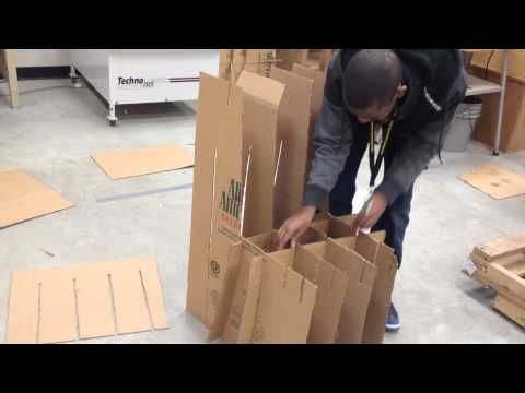 How to build cardboard chair 2014 CDFX