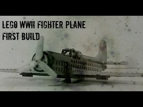 Lego World War II era fighter plane build #1
