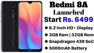 Redmi 8A Launched in India With 5,000mAh Battery, Type-C Fast Charging Support | Start Rs 6,499