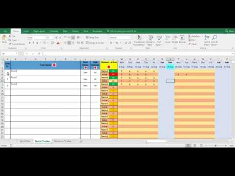 Sprint Tracker Excel Template