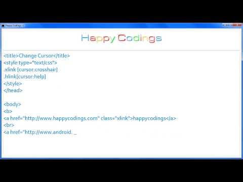 HTML   Change Cursor
