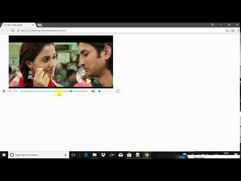 HTML TUTORIAL FOR BEGINNERS : IMPLEMENTING THE VIDEO TAG IN A HTML WEBPAGE