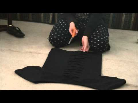 DIY: T-Shirt into a Gothy Fashion Top