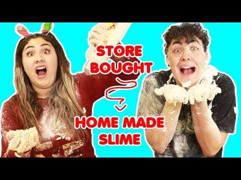 CHANGE STORE BOUGHT SLIMES TO REAL SLIMES CHALLENGE   Slimeatory #352
