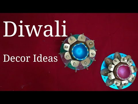 How to reuse plastic bottles & cd for diwali decor- Best Out of Waste