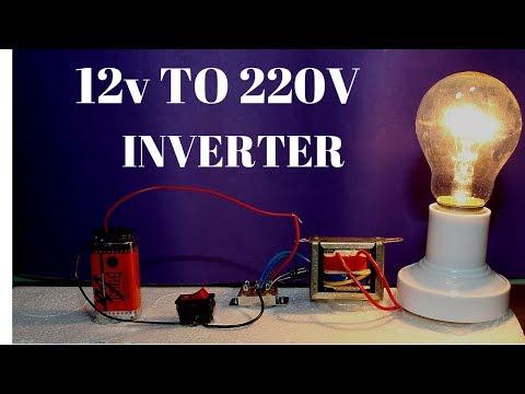 How To Make Powerful 12v To 220v Inverter Without Transistor - 12v to 220v Inverter