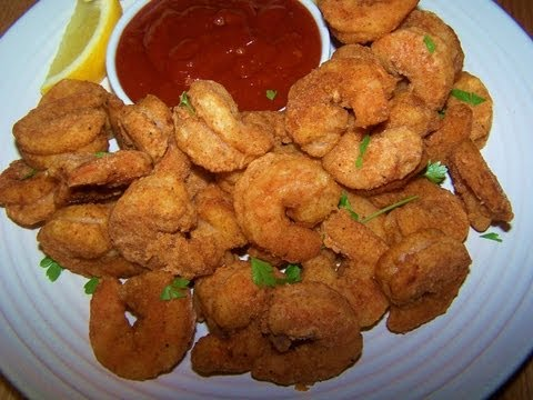 Oven Fried Popcorn Shrimp - Gluten Free
