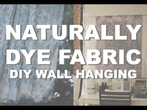 DIY Wall Hanging | Naturally Dye Fabric w/ Black Beans