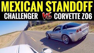 500+ HP C6 Corvette Z06 vs 375 HP Challenger RT | STREET RACE!