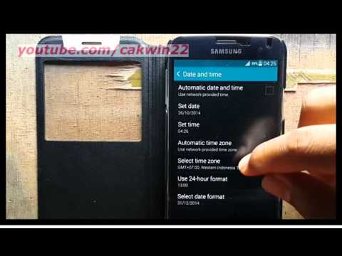 Samsung Galaxy S5 : How to set time zone manually (Android Phone)
