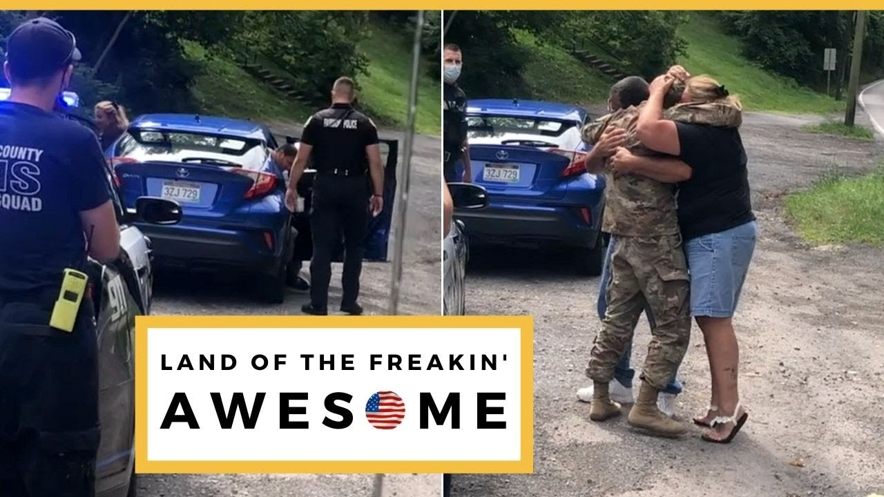 Cops Pull Parents Over So Military Son Can Surprise Them After Deployment