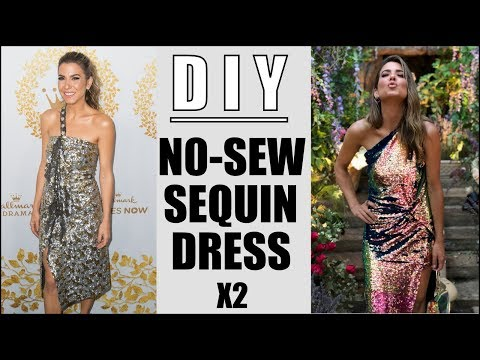Xxx Mp4 DIY How To Make 2 NO SEW Sequin Dresses RED CARPET By Orly Shani 3gp Sex