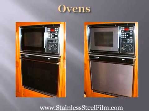 Amazing  Appliance Upgrades Faux Stainless Steel Film