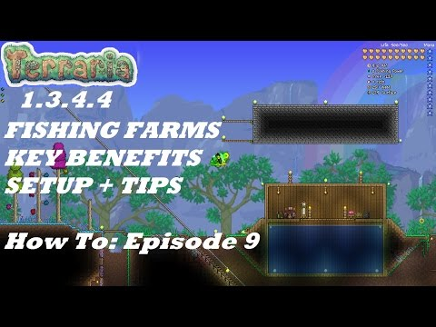 Terraria 1.3.4.4 HOW TO | Important Fish Farms + Tips Making it Easier | Episode 9