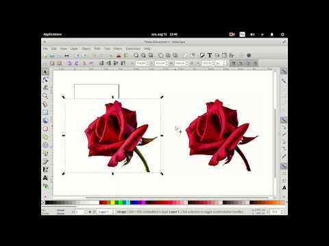 How to quickly vectorize a bitmap / image using GIMP and Inkscape