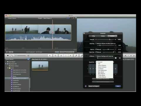 iMovie 11 Audio Editing - New Features