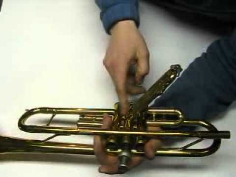 How To Free Up A Stuck 2nd Valve On A King Model 600 Student Model Trumpet