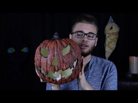 DIY fake creepy jack o'lantern  - Halloween prop tutorial