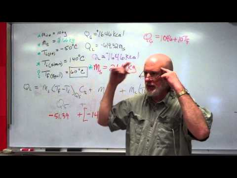 Ice Problem 5 Finding the Tf Equilibrium Temperature) using Ice Problem 4 Info